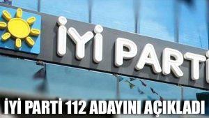 İYİ Parti 112 adayını açıkladı